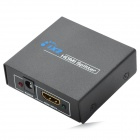 1080P 1-In 2-Out HDMI V1.4 Splitter w/ 2-Flat-Pin Plug Adapter - Black