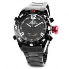 WEIDE 1310 Men's Water Resistant Stainless Steel Quartz Wrist Watch - Black (1 x 377)