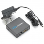 1080P 1-In 2-Out HDMI V1.4 Splitter w/ UK Plug Charging Adapter - Black