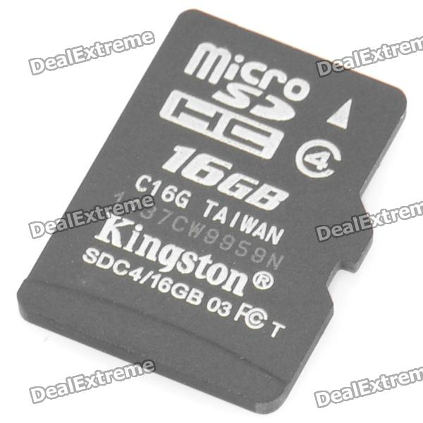 Genuine Kingston 16GB SDHC Micro SD/TF Memory Card (Class 4)