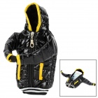Down Coat Style Protective Cotton Bag / Case for Cellphones - Black + Yellow
