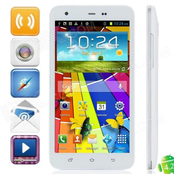 S2000 MTK6589 Quad-Core Android 4.2.1 WCDMA Bar Phone w/ 5.0″ Capacitive, Wi-Fi and GPS – White