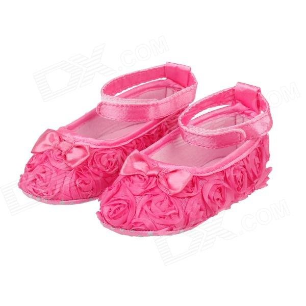 Flower Velcro Baby Shoes - Deep Pink (9-12 Months / 1 Pair)Other  Supplies<br>Brand N/A Model N/A Quantity 2 piece(s) per pack Color Deep Pink Material Cotton Specification A pair of baby shoes Certifications National Certification Keywords Baby shoes Other Features Baby shoes inside length: 13.5cm; Shoes Material: cotton; Applicable age : 9-12months; The way they dress: Velcro; Function: non-slip; Cute and useful gifts collection can also be as decoration Packing List 1 x Pair of baby shoes<br>