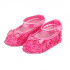 Flower Velcro Baby Shoes - Deep Pink (9-12 Months / 1 Pair)