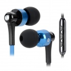AWEI S50VI In-Ear Earphone w/ Microphone for Iphone 4 / 4S / 5 / Ipad - Blue + Black