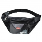 Multifunctional Outdoor Nylon Waist Bag - Black