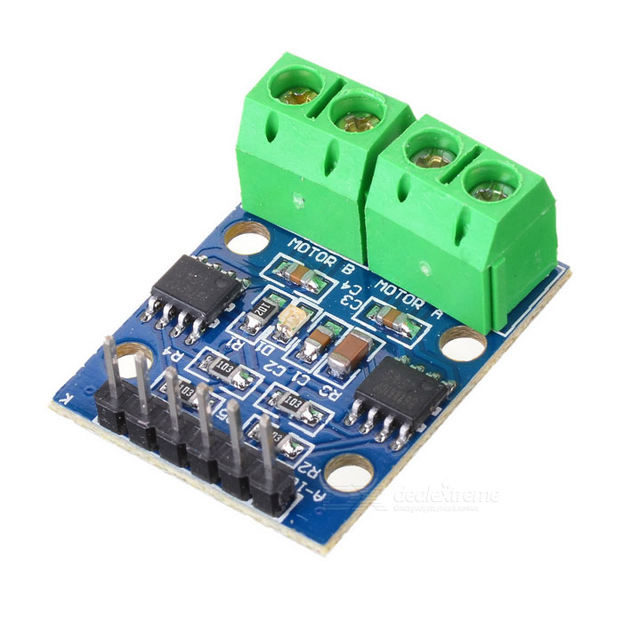 HG7881 Two-Channel Motor Driver Board - Blue + Green + Black (2.5~12V)