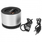 Mini Bluetooth v3.0 Speaker w / TF / Microfone / Mãos-livres Speakerphone - Preto + Prata
