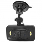 H6000 E610 4X 5.0MP Tri-camera 360 Degree Panoramic Viewing Angle HD Driving Recorder - Black