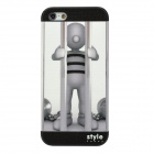 Indoorsman Style Protective PVC Back Case for Iphone 5 - Grey White + Black