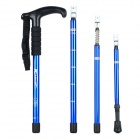Retractable 4-Fold Shockproof Aluminum Alloy Hiking Trekking Stick Pole Alpenstock - Blue + Black