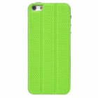 3-in-1 Cool Protective PU Leather Back Sticker Case Protector for Iphone 5 - Green