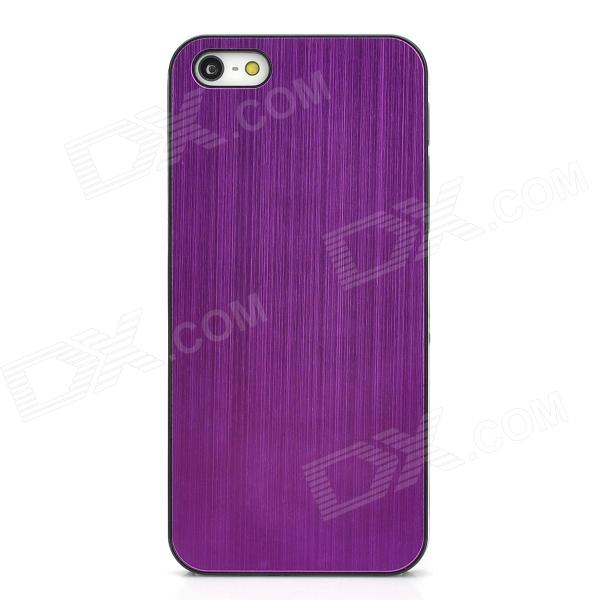 Protective Wiredrawing Plastic Back Case for Iphone 5 - Purple prestigio muze b7 5 01280 720ips display dual sim android 6 0 1 3ghz quad core 2gb ddr 16gb flash 2 0mp front 13 0mp rear camera with flash light 2300mah battery black[psp7511duoblack]