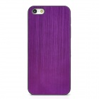 Protective Wiredrawing Plastic Back Case for Iphone 5 - Purple