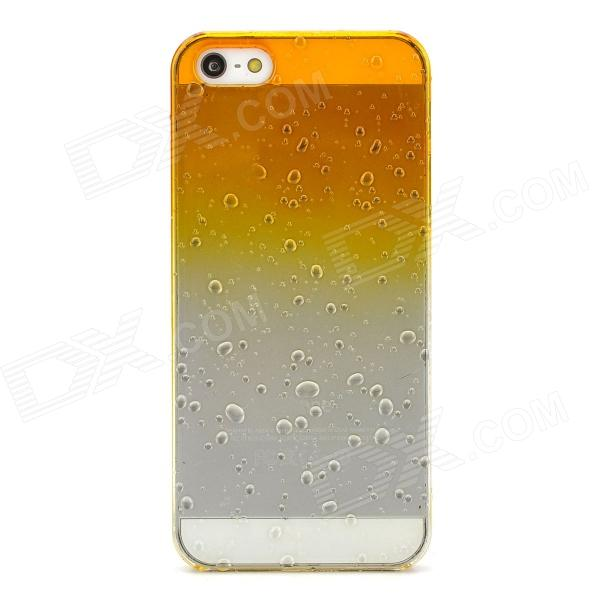 Raindrop Pattern Protective Plastic Back Case for Iphone 5 - Transparent +  Yellow - Free Shipping - DealExtreme d9341aecdaf