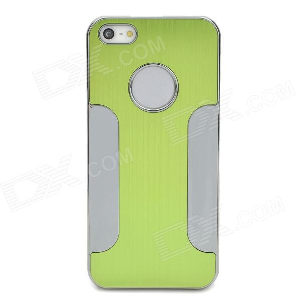 Protective Aluminum Alloy Wiredrawing Back Case for Iphone 5 - Green