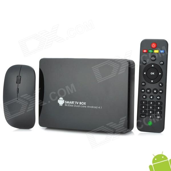 GV25 Dual-Core Android 4.1 Mini PC Google TV Player w/ 1GB RAM / 8GB ROM / LAN / 2.4G Mouse - Black