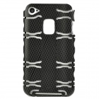 Style Protective Aluminum Alloy Back Case for Iphone 4 / 4S - Black