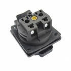 Waterproof 2200W European Socket w/ Children Protection Plate - Black (250V)