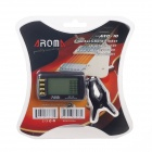 "AROMA ATC-10 1.7"" LCD Clip-on Chord Finder Chromatic Tuner for Guitar - Black (1 x CR2032)"