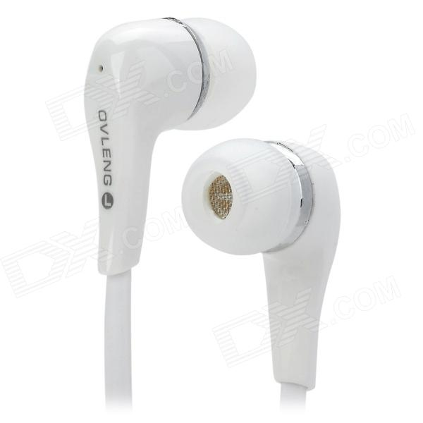 OVLENG K285MP Flat In-Ear Earphone - White