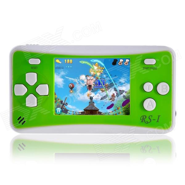 2.5 Handheld Game Console w/ Speaker / Built-in Games - Green + White (256M / 3 x AAA) md 16 3 display handheld game console with built in 100 games