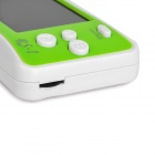 "2.5"" Handheld Game Console w/ Speaker / Built-in Games - Green + White (256M / 3 x AAA)"