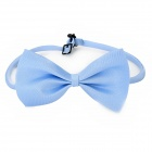 LJ-01 Adjustable Pet Dog Cat Handsome Butterfly Bow Tie - Blue