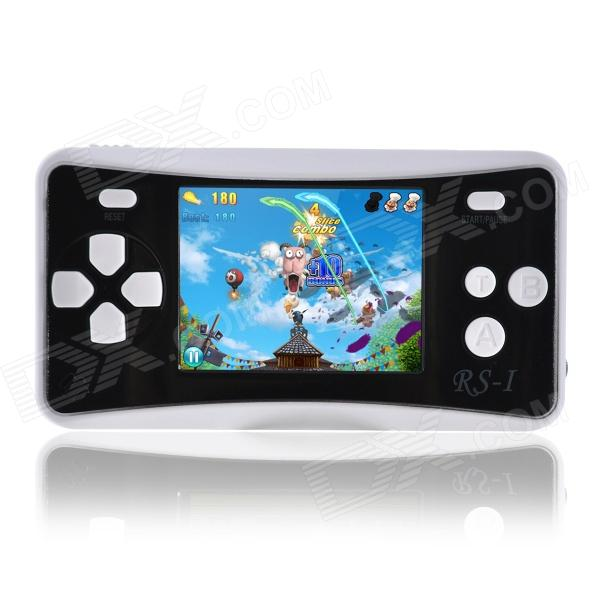 "2.5"" Handheld Game Console w/ Speaker / Built-in Games - Black + White (256M / 3 x AAA)"