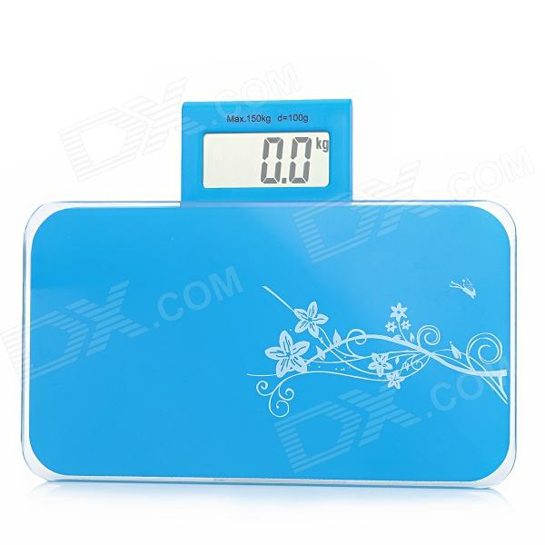 MD610 Portable 2.5 LCD Digital Body Weight Scale - Blue (1 x CR2032) compact portable 2 0 lcd digital personal body weight scale 2 aaa 0 3 150kg