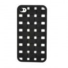 NEWTOP Ultrathin Hollow Out Woven Style Protective Plastic Back Case for Iphone 4S - Black