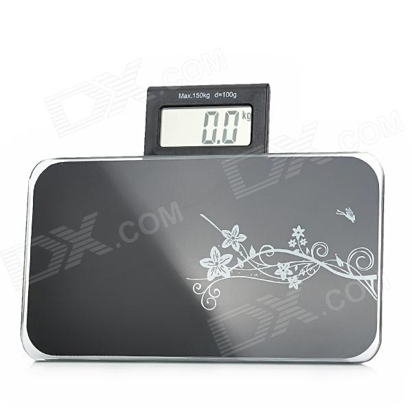 MD610 Portable 2.5 LCD Digital Body Weight Scale - Black (1 x CR2032) compact portable 2 0 lcd digital personal body weight scale 2 aaa 0 3 150kg
