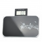 "MD610 Portable 2.5"" LCD Digital Body Weight Scale - Black (1 x CR2032)"