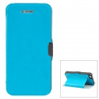 Stylish Protective PU Leather Case for iPhone 5 - Blue