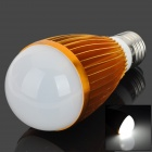 E27 7W 7000K 560lm 7-LED White Light Light Bulb - Golden + White (85~265V)