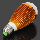 E27 7W 7000K 560lm 7-LED White Light Light Bulb - Golden + White (85 ~ 265V)