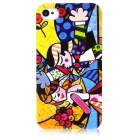 Man & Woman Graffiti Style Protective Plastic Back Case for Iphone 4 / 4S - Multicolor