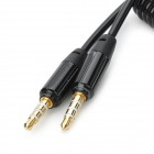 Retractable 3.5mm Male to Male Audio Spring Cable - Black (140cm)
