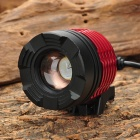 LW-58J2 Cree XM-L T6 600lm 3-Mode Zooming White Bike Bicycle Headlight - Black + Red (4 x 18650)