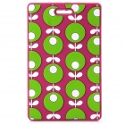 Cute Floral Pattern Relievo Durable Silicone Luggage Tag w/ Strap - Purple + Green + White