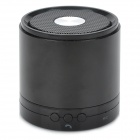 Cylinder Style Rechargeable Bluetooth v3.0 Speaker w/ Microphone Supports Hands-Free - Black