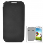 Protective Flip-Open PU Leather + Plastic Case for Samsung Galaxy S4 i9500 - Black + Grey