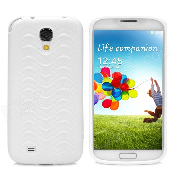 W Pattern Protective PVC Case for Samsung Galaxy S4 i9500 - Milk White