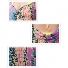 Women's Fresh Natural Floral Cross Front Beach Chiffon Cover-up - Multi-Colored (Size L)
