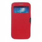 Protective PU Leather Case for Samsung Galaxy S4 i9500 - Red + Black