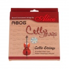 ALICE A806 High Quality 1/2-4/4 Cello Strings Set - Silver