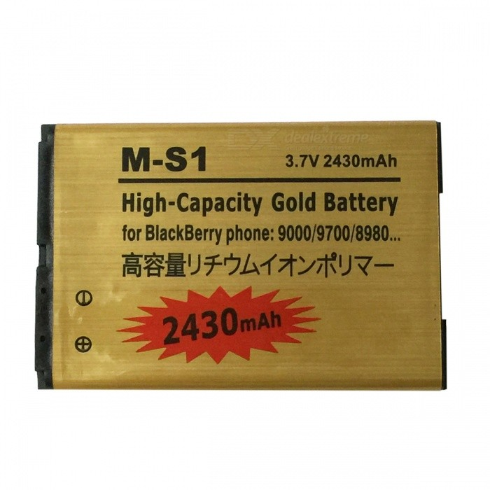 M-S1 3.7V 2430mAh Rechargeable Li-ion Battery for BlackBerry 8980 / 9000 / 9700 / 9780 - Golden