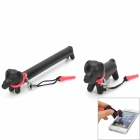 Creative Dog Style Capacitive Touch Screen Stylus w/ Anti-Dust Plug - Black + Pink (2 PCS)