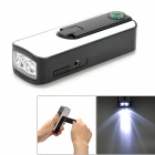 POSEFLY PY110425 Hand-Crank / USB Rechargeable 2-LED 18000MCD Flashlight w/ FM Radio / Compass