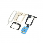 R-SIM 8G Unlock SIM Card w/ SIM Card Adapters for Iphone 4S / 5 - Blue